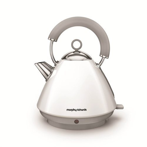 Morphy Richards Accents Pyramid Kettle - White Morphy Richards Accents Pyramid Kettle - White  - Click to view a larger image