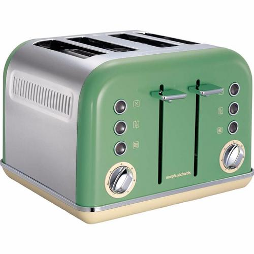 Morphy Richards Accents 4 Slice Toaster - Sage Green Morphy Richards Accents 4 Slice Toaster - Sage Green  - Click to view a larger image