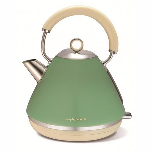 Morphy Richards Accents Pyramid Kettle - Sage Green Morphy Richards Accents Pyramid Kettle - Sage Green
