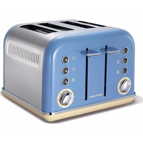 Morphy Richards Accents 4 Slice Toaster - Cornflour Blue Morphy Richards Accents 4 Slice Toaster - Cornflour Blue  - Click to view a larger image