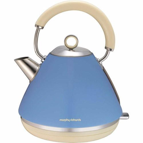 Morphy Richards Cornflour Blue Accents 1.5 Litre Pyramid Kettle  - Click to view a larger image