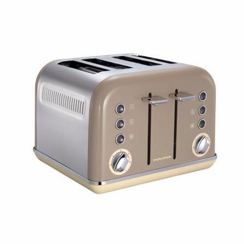 Morphy Richards Accents 4 Slice Toaster - Barley Morphy Richards Accents 4 Slice Toaster - Barley  - Click to view a larger image