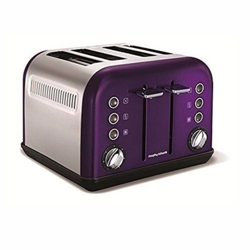 Morphy Richards Accents 4 Slice Toaster - Plum Morphy Richards Accents 4 Slice Toaster - Plum - Toaster,Morphy Richards Accents 4 Slice Toaster - Plum - Toaster - Click to view a larger image