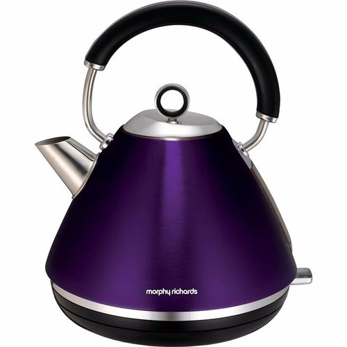 Morphy Richards Plum Accents 1.5 Litre Pyramid Kettle Morphy Richards Accents Pyramid Kettle - Plum  - Click to view a larger image