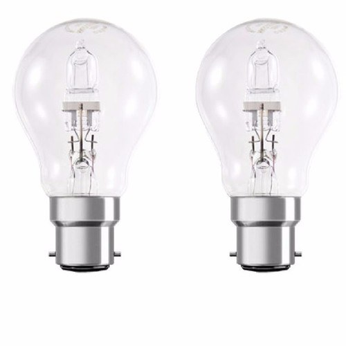 Status Twin Pack Halogen GLS Bulb - Bayonet Cap (BC)  Status Two Energy Saving Incandescent Halogen GLS Bulbs - Bayonet Cap - Click to view a larger image