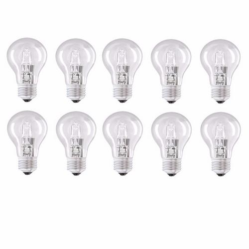 Status Ten Pack Halogen GLS Bulb - Edison Screw (ES)  Status Ten Energy Saving Incandescent Halogen GLS Bulb - Edison Screw Cap,Status Ten Energy Saving Incandescent Halogen GLS Bulb - Edison Screw Cap - Click to view a larger image