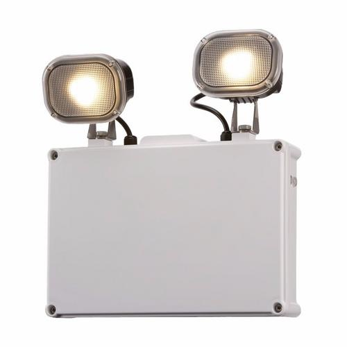 KnightsBridge IP65 Twin 3W LED Spot Emergency Light KnightsBridge IP65 2x 3W LED Twin Spot Emergency Light - Click to view a larger image
