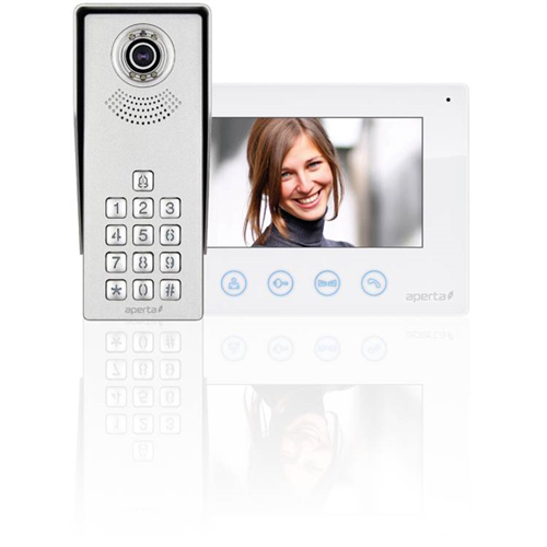 ESP Aperta Single Way Colour Video Door Entry System Kit With Keypad ESP Aperta Single Way Colour Video Door Entry System Kit With Keypad - Click to view a larger image