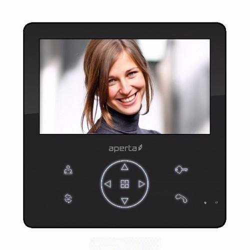 ESP Aperta Colour Video Door Entry Monitor with Record Facility - Black ESP Aperta Colour Video Door Entry Monitor with Record Facility - Click to view a larger image