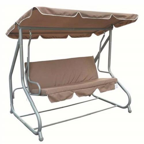 Zexum Cream Swinging 3 Person Bench & Hammock Bed Zexum Brown Swinging 3 Person Bench & Hammock Bed - Chair position - Click to view a larger image