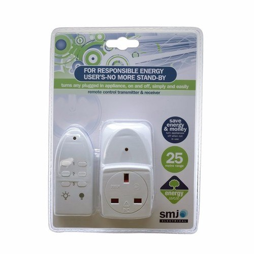 SMJ 25M Eco Remote Switch Control Mains Power Plug Socket SMJ 25M Eco Remote Switch Control Mains Power Plug Socket  - Click to view a larger image