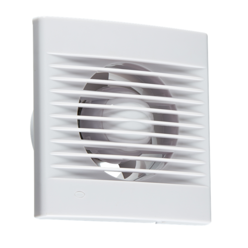 "KnightsBridge 4 Axial Wall & Ceiling Extractor Fan With Timer KnightsBridge 4"" Axial Vent Kitchen Bathroom Wall & Ceiling Extractor Fan w/ Timer  - Click to view a larger image"