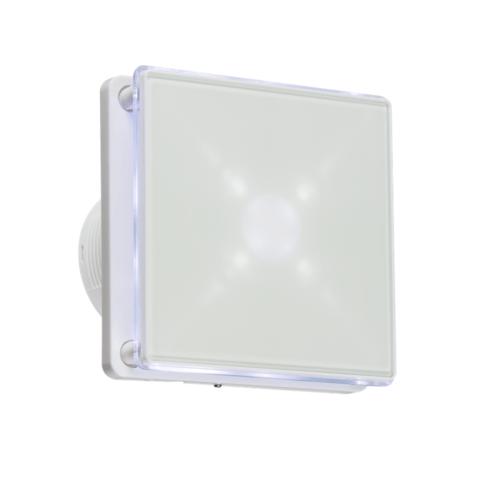 "KnightsBridge 4 LED Backlit Wall & Ceiling Extractor Fan With Timer KnightsBridge 4"" LED Backlit Bathroom Wall & Ceiling Extractor Fan w/ Timer  - Click to view a larger image"