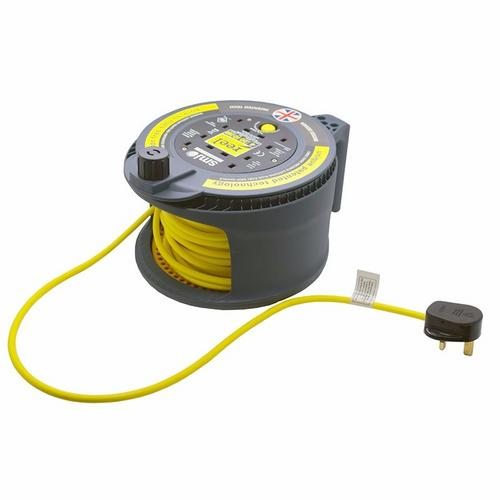 Reel Pro 20m 4 Gang with Thermal Cut-Out Commercial /& Domestic Use Dual Drum