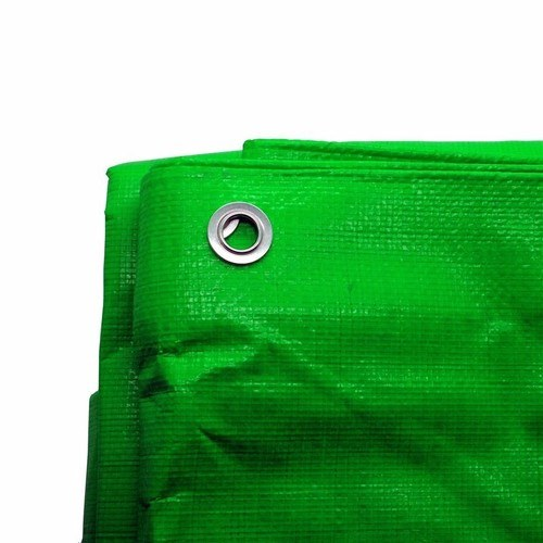 Zexum 12' x 18' Heavy Duty Green Weatherproof Tarp Ground Sheet  - Click to view a larger image
