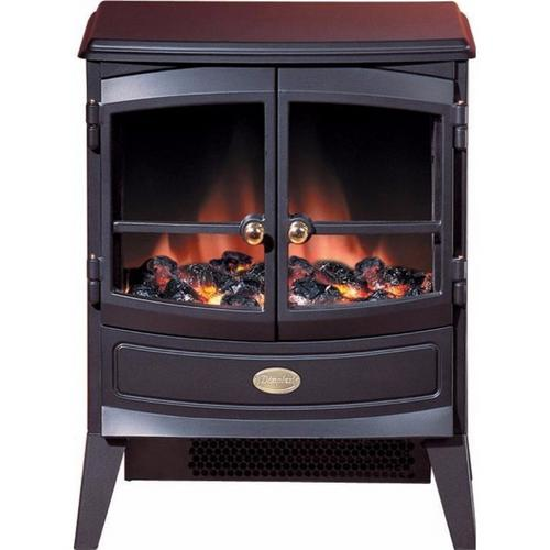Dimplex Springborne 2kW Electric Fan Heater Stove in Black With Optiflame  - Click to view a larger image