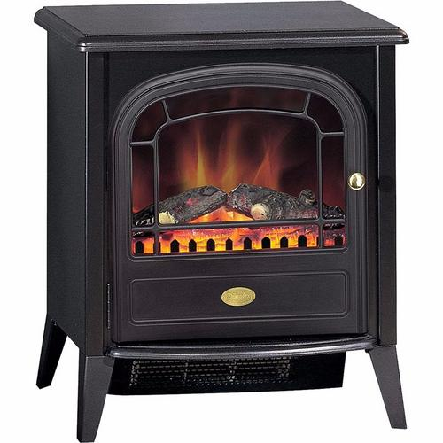 Dimplex Club LED 2kw Electric Fire Black Stove Style c/w Remote Control  - Click to view a larger image