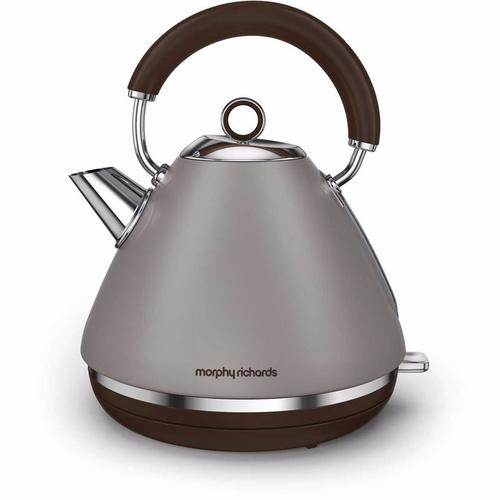Morphy Richards Accents Pyramid Kettle Special Edition - Pebble Morphy Richards Accents Pyramid Kettle Special Edition - Pebble - Click to view a larger image