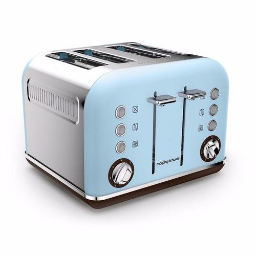 Morphy Richards Accents 4 Slice Toaster Special Edition - Azure Morphy Richards Accents 4 Slice Toaster Special Edition - Azure  - Click to view a larger image