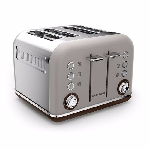 Morphy Richards Accents 4 Slice Toaster Special Edition - Pebble Morphy Richards Accents 4 Slice Toaster Special Edition - Pebble - Click to view a larger image
