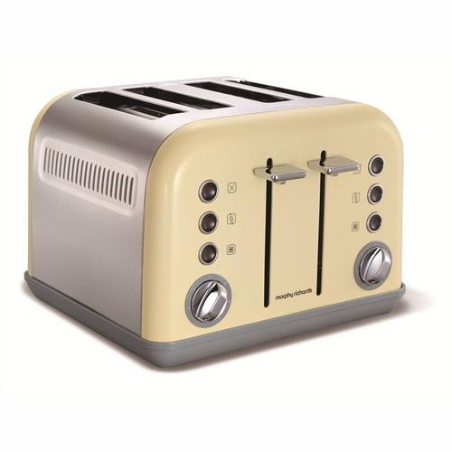 Morphy Richards Accents 4 Slice Toaster Special Edition - Sand Morphy Richards Accents 4 Slice Toaster Special Edition - Sand  - Click to view a larger image