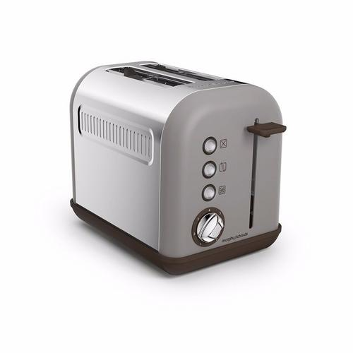 Morphy Richards Pebble Grey Accents 2 Slice Toaster Morphy Richards Accents 2 Slice Toaster - Pebble  - Click to view a larger image