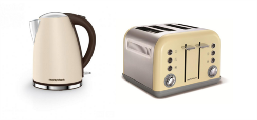 Morphy Richards Accents Jug Kettle & 4 Slice Toaster Set Special Edition  Sand