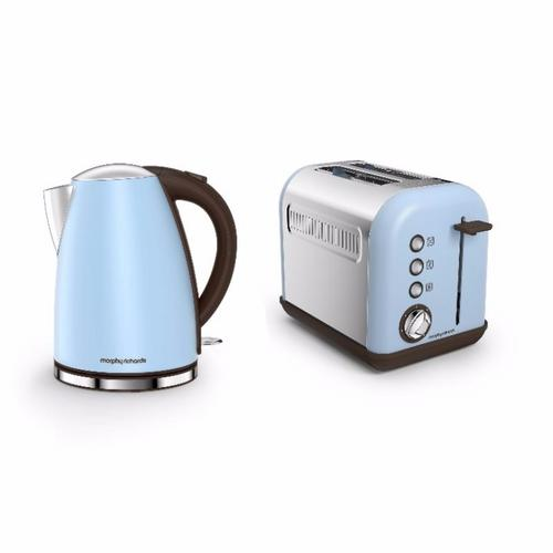 Morphy Richards Accents Jug Kettle & 2 Slice Toaster Set   Azure