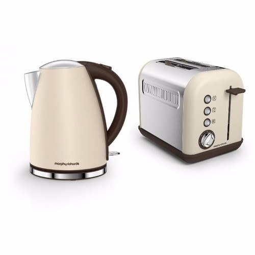Morphy Richards Accents Jug Kettle & 2 Slice Toaster Set   Sand