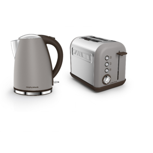 Morphy Richards Accents Jug Kettle & 2 Slice Toaster Set   Pebble