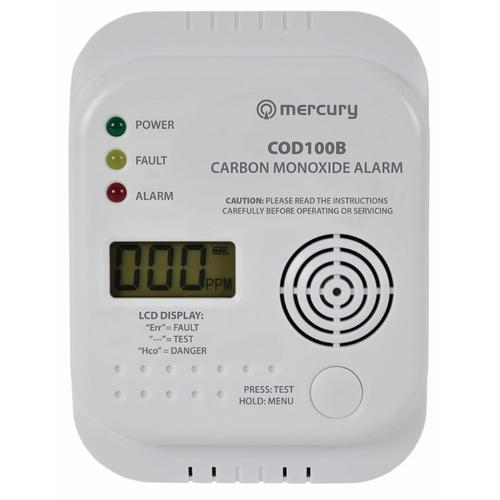 Mercury Carbon Monoxide Digital Alarm Mercury Carbon Monoxide Digital Alarm  - Click to view a larger image