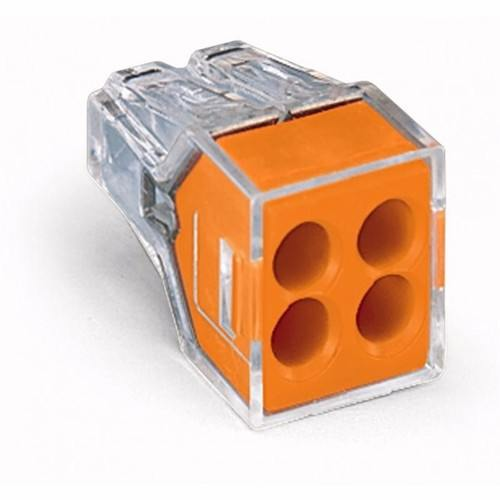 WAGO 4 Way Push-Wire Connector For Junction Boxes  - Click to view a larger image
