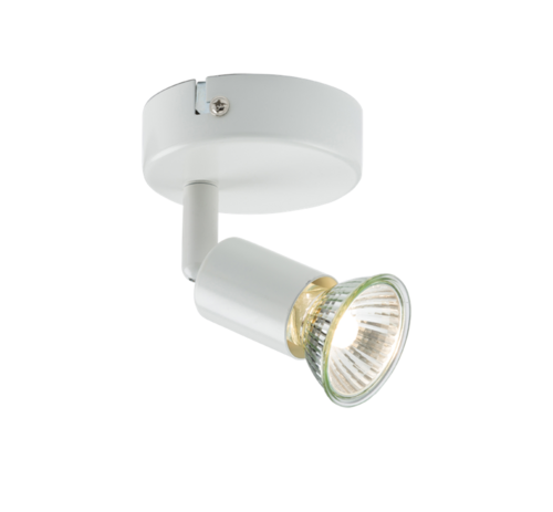 KnightsBridge Ceiling Light GU10 50 Watt Single Spotlight White LED Compatible 1