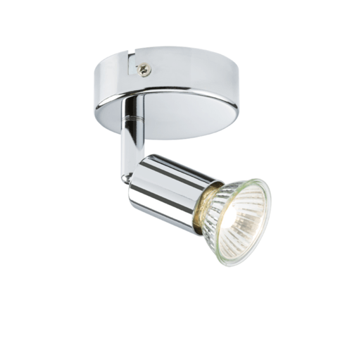 KnightsBridge Ceiling Light GU10 50 Watt Single Spotlight Chrome LED Compatible KnightsBridge Ceiling Light GU10 50 Watt Single Spotlight Chrome LED Compatible - Click to view a larger image