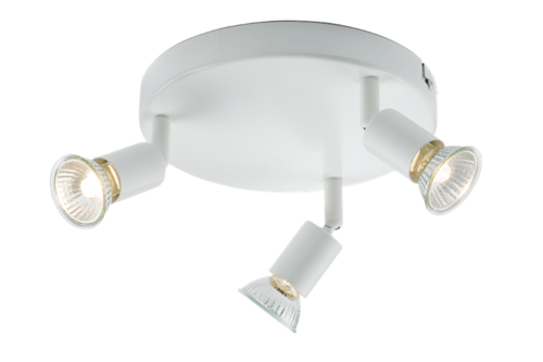 KnightsBridge Ceiling Light GU10 50 Watt 3 Spotlight Bar White LED Compatible KnightsBridge Ceiling Light GU10 50 Watt 3 Spotlight Bar White LED Compatible - Click to view a larger image