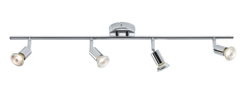 KnightsBridge Ceiling Light GU10 50 Watt 4 Spotlight Bar Chrome LED Compatible KnightsBridge Ceiling Light GU10 50 Watt 4 Spotlight Bar Chrome LED Compatible - Click to view a larger image