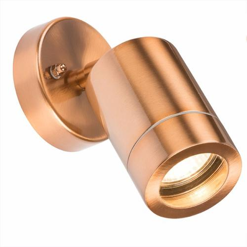 KnightsBridge Adjustable IP65 Brushed Copper Indoor Outdoor Single Wall Light KnightsBridge Adjustable IP65 Brushed Copper Indoor Outdoor Single Wall Light - Click to view a larger image