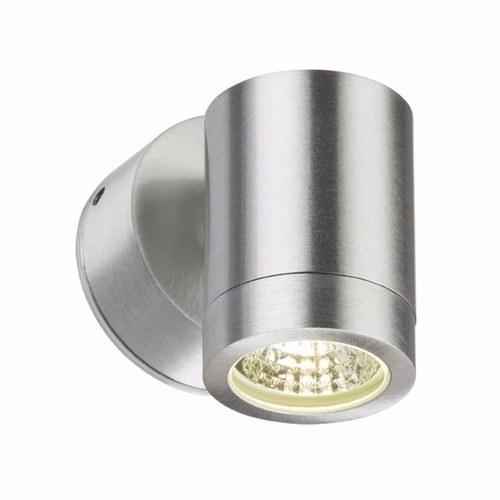 KnightsBridge 3W IP65 GU10 LED Brushed Aluminum Wall Light
