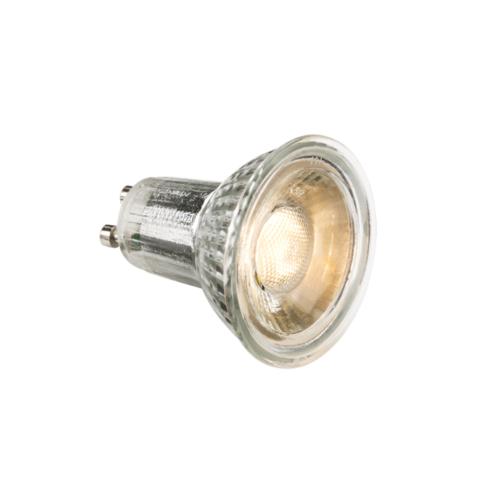 KnightsBridge 5W LED Glass GU10 Bulb KnightsBridge 5W GU10 High Output Retrofit LED Light Bulb - Click to view a larger image