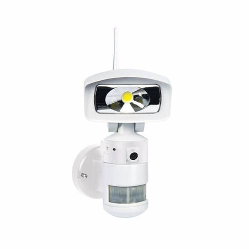 NightWatcher LED Robotic Security Light with WiFi & HD Camera - White  - Click to view a larger image
