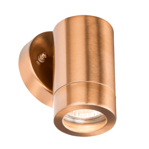 KnightsBridge IP65 GU10 35W Fixed Wall Light - Brushed Copper  - Click to view a larger image