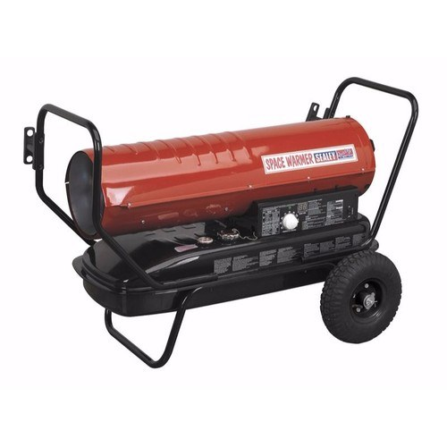 Sealey Portable Space Warmer Diesel Heater 100kBtu/hr with Wheels Sealey Space Warmer ParaffinKeroseneDiesel Heater 100,000Btuhr with Wheels - Click to view a larger image