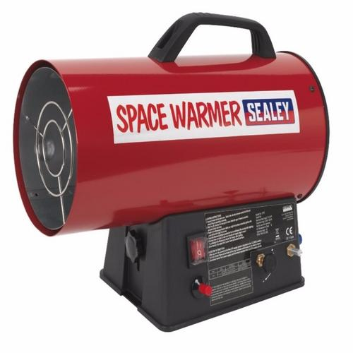 Sealey Space Warmer Industrial Propane Heater 26k-42k Btu/hr ,, - Click to view a larger image
