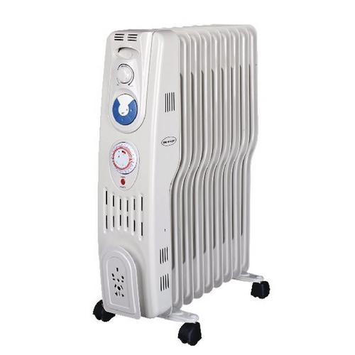 Silent Night 2kW S Type Oil Filled Radiator With Timer  - Click to view a larger image