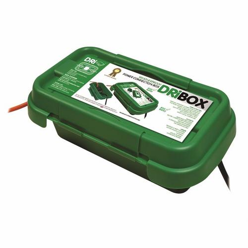 Compare cheap offers & prices of Dribox DB200G 200mm IP55 Weatherproof Connection Box - Green manufactured by Dribox