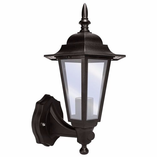 Eterna 60 Watt Lantern with 110º PIR - Black  - Click to view a larger image