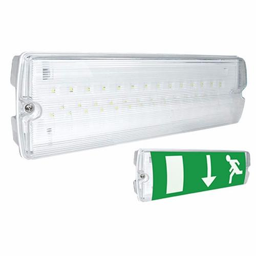 Eterna Emergency LED Bulkhead With Adhesive Exit Sign  - Click to view a larger image