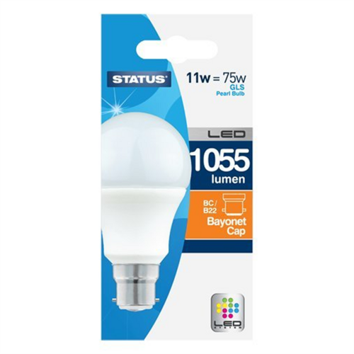 Compare prices for Status 11W LED Bayonet Cap GLS Bulb