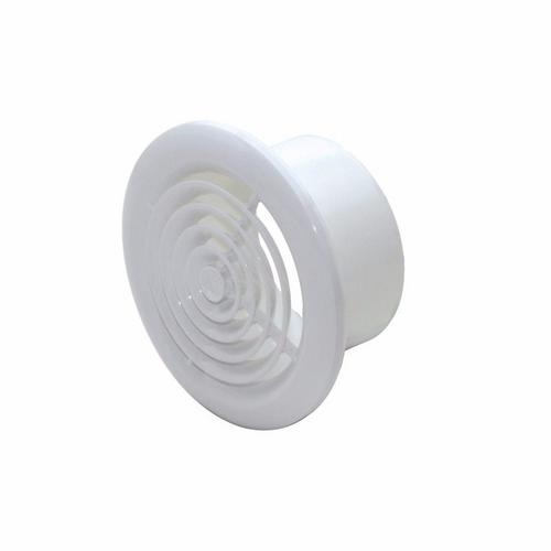 Polypipe 100mm Round Ceiling Diffuser Vent White Round ceiling Vent - Click to view a larger image