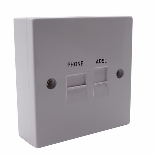 Solwise ADSL Filtered BT / RJ11 Phone / Network Faceplate